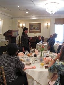 """Marga presenting """"Empowering Women and Creating Social Change through Entrepreneurship"""""""