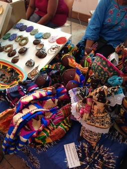 Hand-crafted art and jewelry made by participants of IRC
