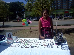 Amoy showcasing her beautiful jewelry