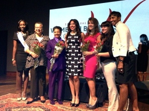 The honoree panel (from left to right): Tecoya Gordon, Marie Johns, A' Lelia Bundles, Natalie Maderia Cofield, Maria Cardona, Marga Fripp, Ricki Fairley.