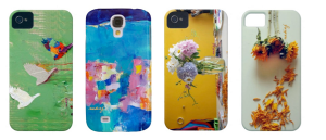 Nadia's phone case designs.